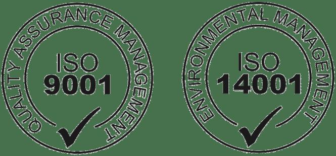ISO 14001 & 9001 logo#